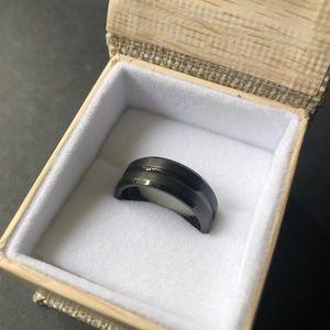 Tungsten Men's Wedding Ring Size 9
